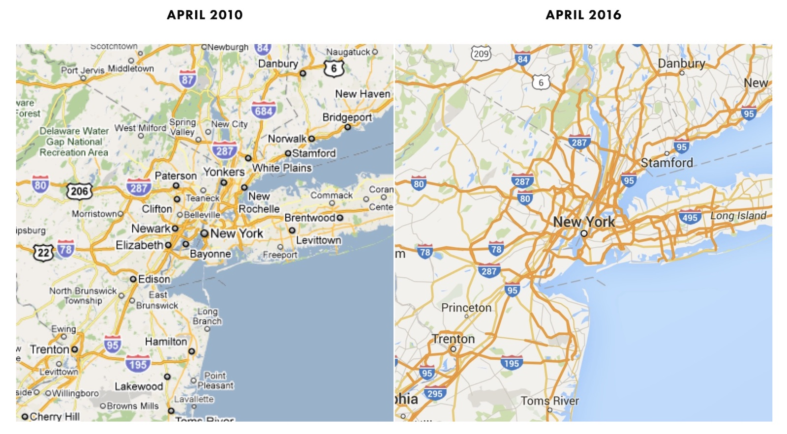 15 Years of Google Maps Website Design History - 48 Images