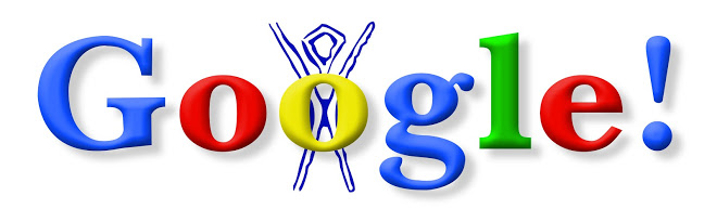 The first google doodle, referencing the Burning Man festival (1998)