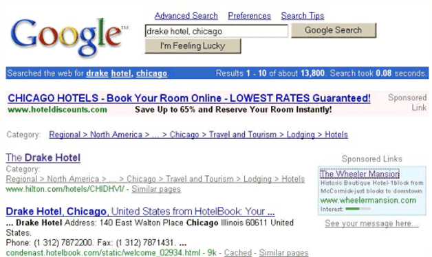First Google search ads (2000)