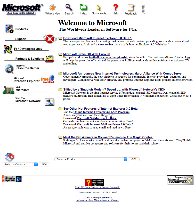 25 Years of Microsoft com Website Design History - 29 Images