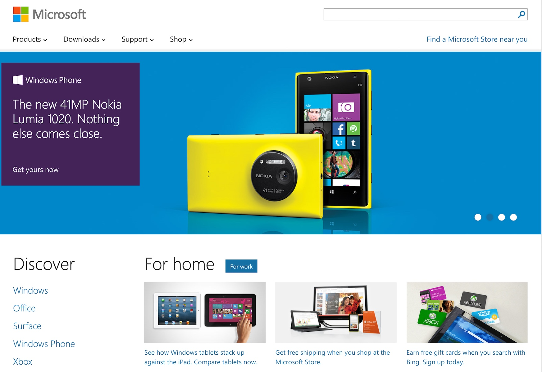Nokia Windows Phone Homepage Promotion (2013)