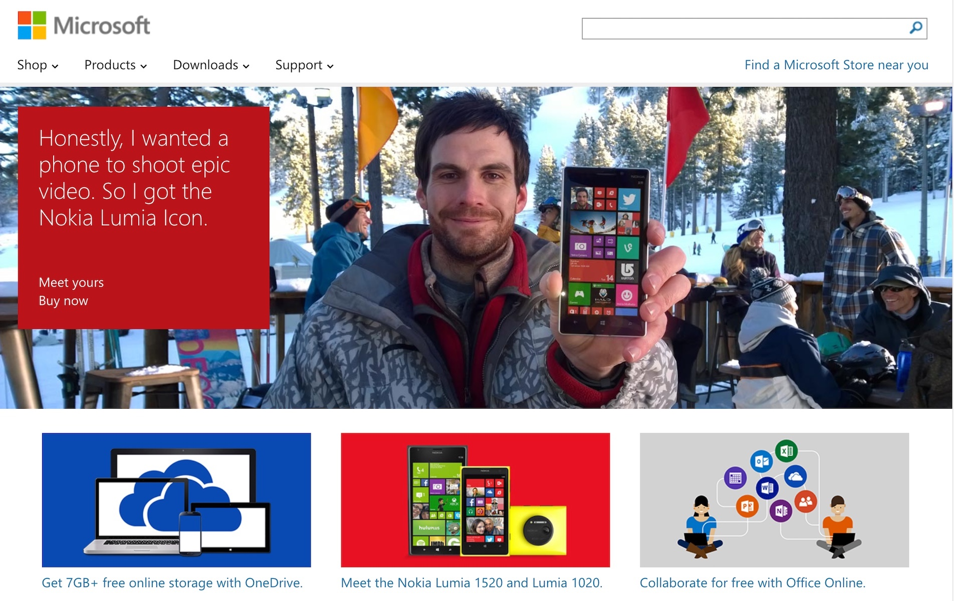 Nokia Lumia Windows Phone Homepage Promotion (2014)
