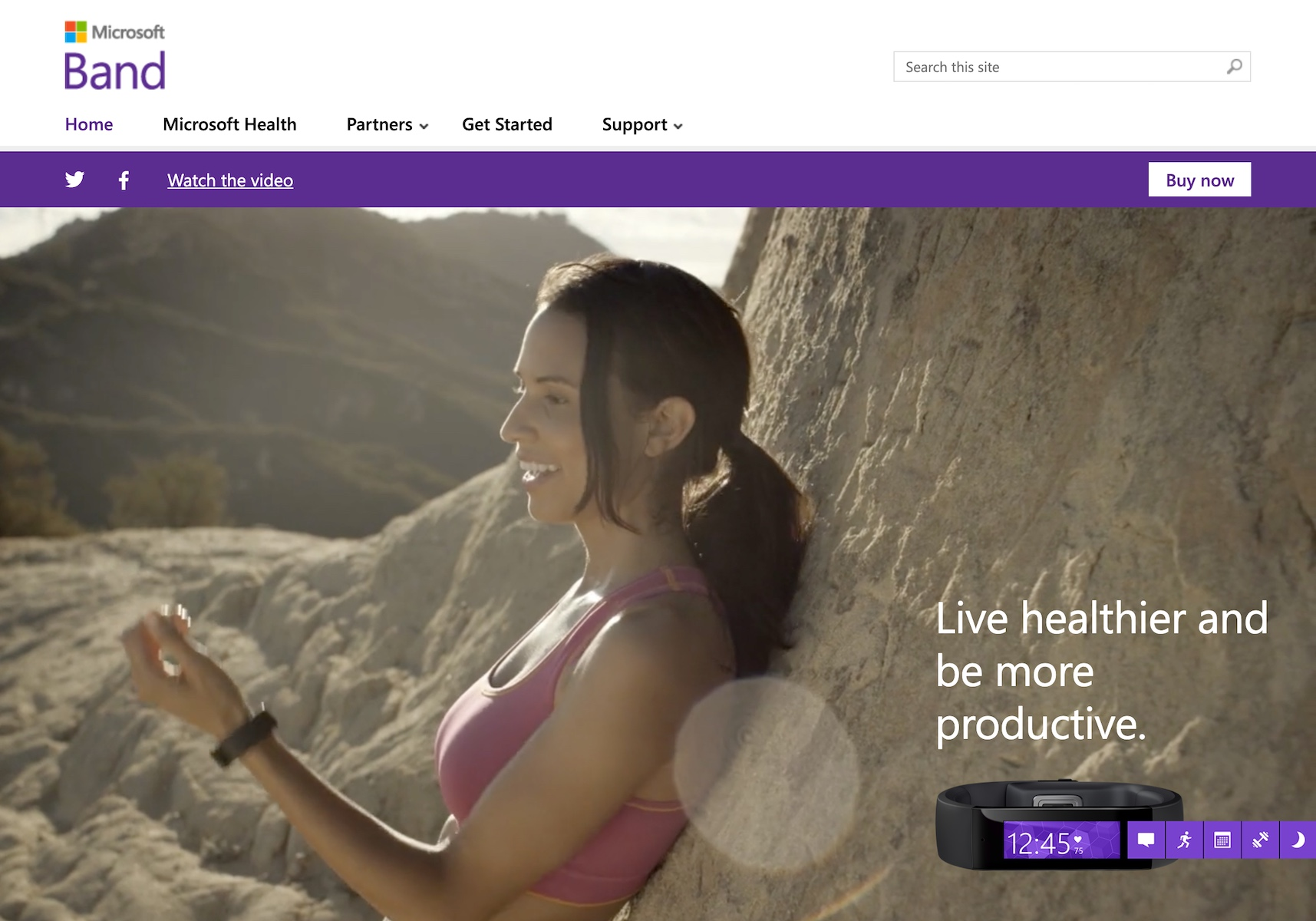 Microsoft Band Health Device (2014)