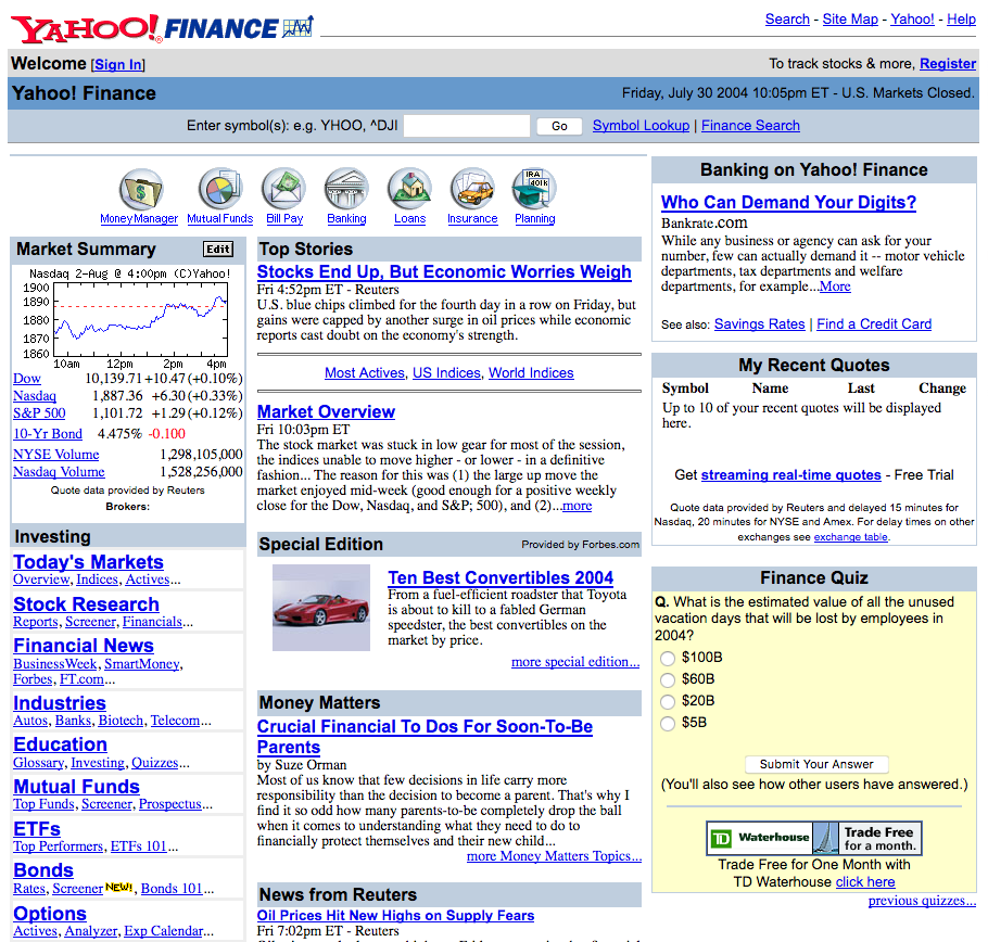 Yahoo! Finance (2004)