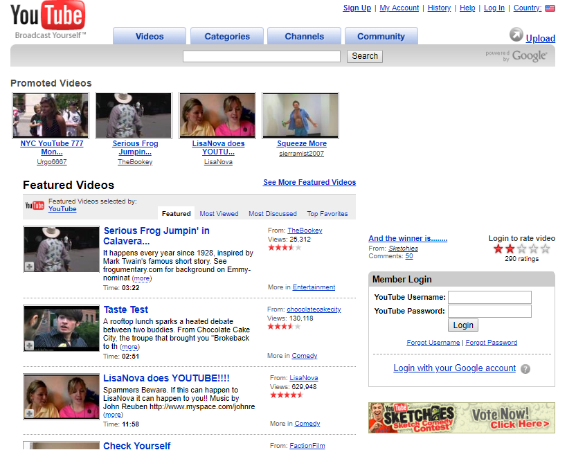 14 Years of YouTube Website Design History - 39 Images