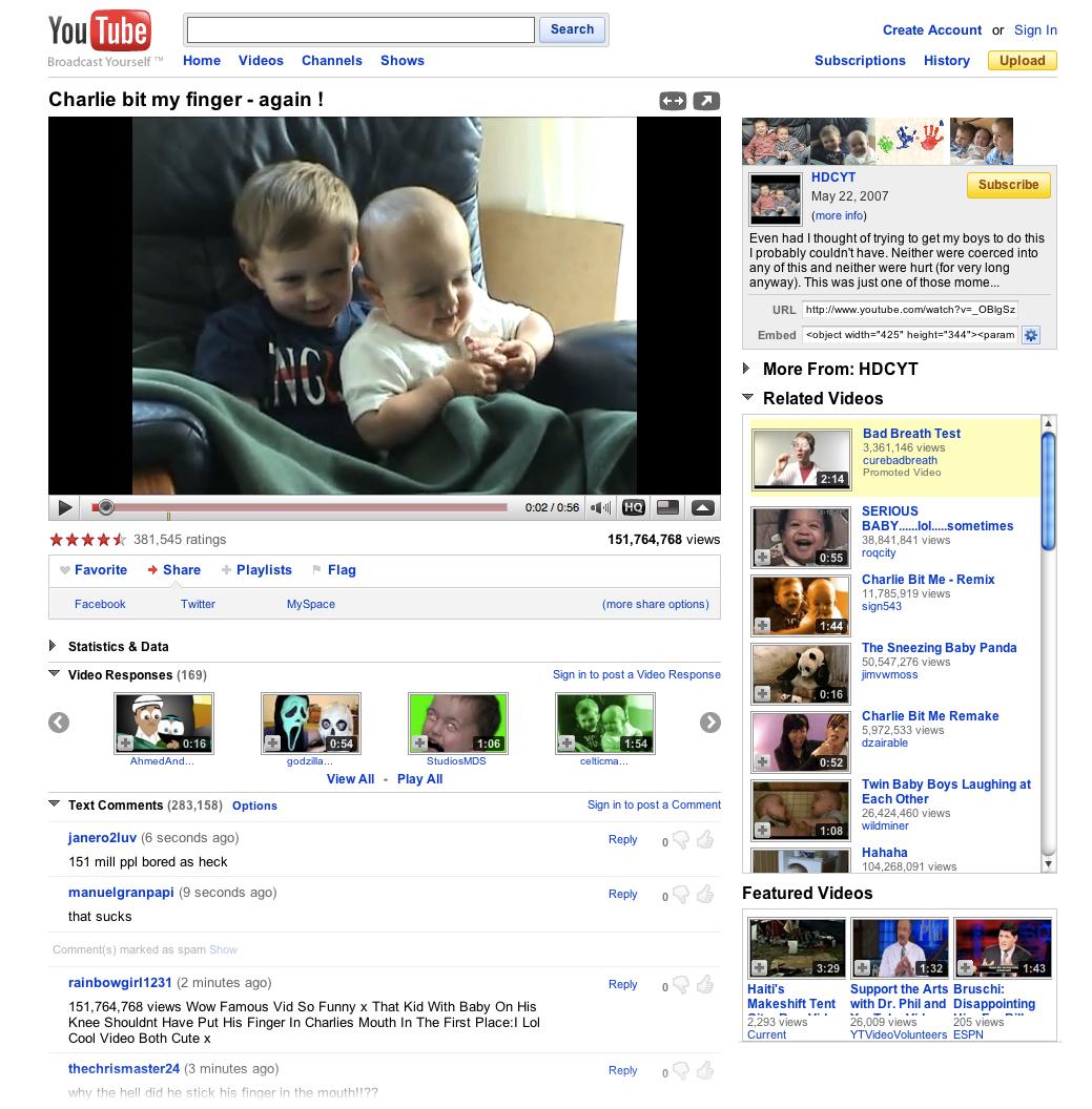 old youtube design