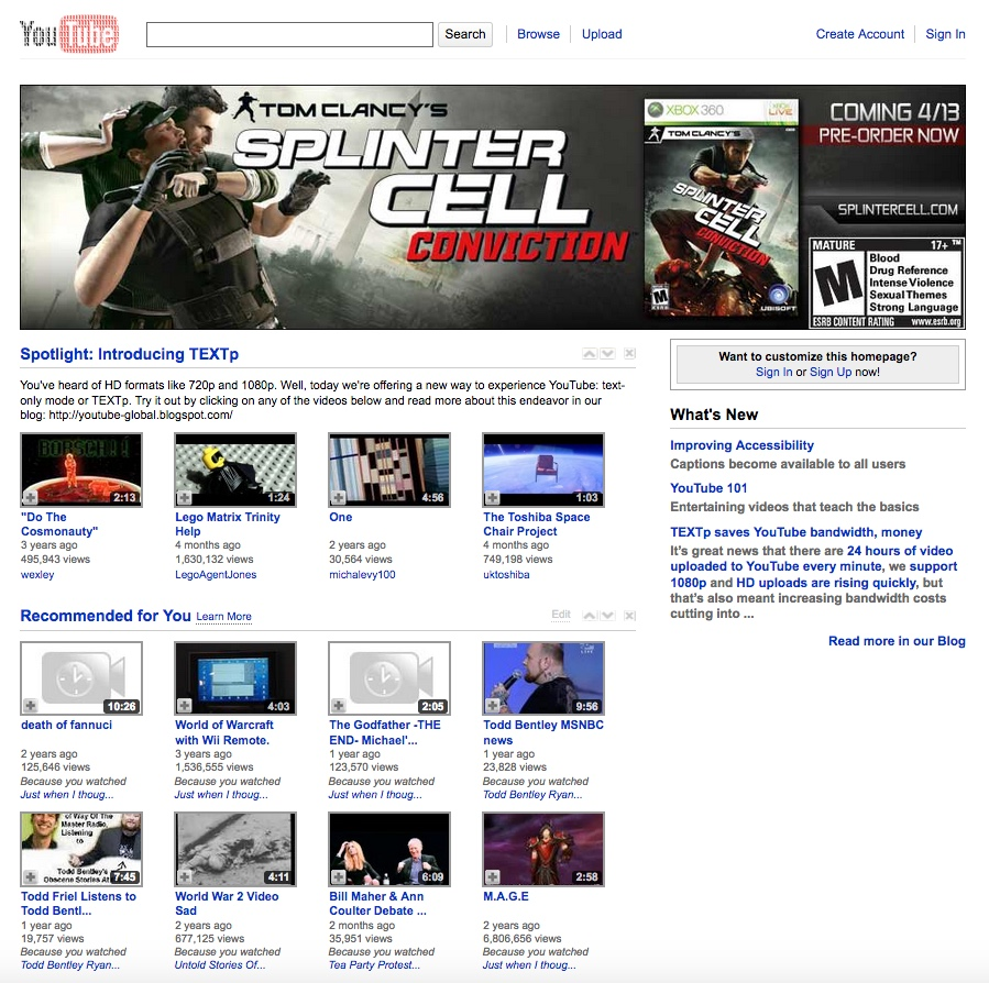15 Years Of Youtube Website Design History 39 Images Version Museum